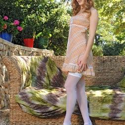 Denisa Heaven in 'DDF' Redhead goddess in the garden! (Thumbnail 1)