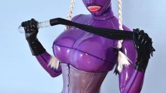 Latex Lucy in 'She Looms In Latex'